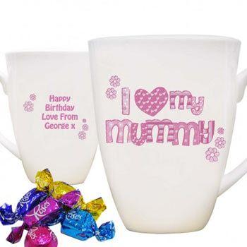 I Love My Mummy Personalised Mug and Chocs
