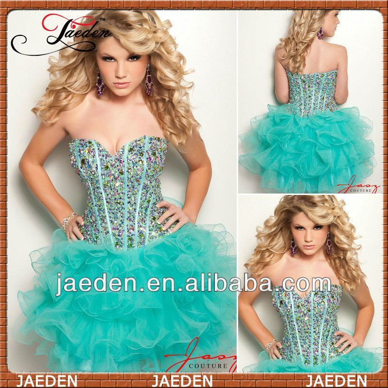 Sparkly Homecoming Dresses Fast Shipping Homecoming Dress Green