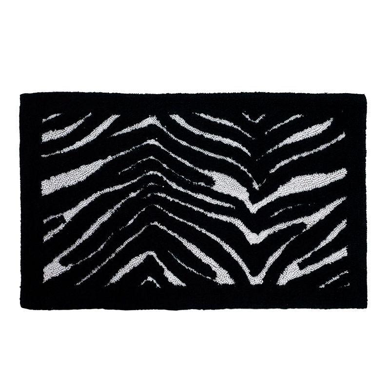 Zebra Bath Rug Multicolor Rugs