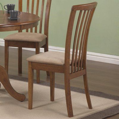 August Grove Weid Solid Wood Slat Back Side Chair Solid Wood