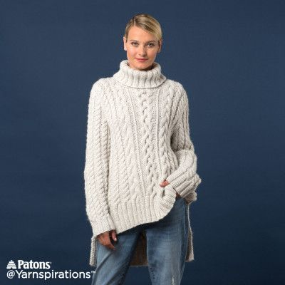 Free Intermediate Knit Pullover | Free Knit Sweater Patterns ...