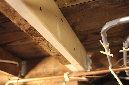 Fixing A Damaged Floor Joist Home Repairs Diy Home Repair Home