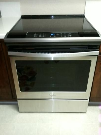 Whirlpool 30 In 4 8 Cu Ft Slide In Electric Range In Stainless Steel Wee510s0fs At The Home Depot Mobile Electric Range Whirlpool Electricity