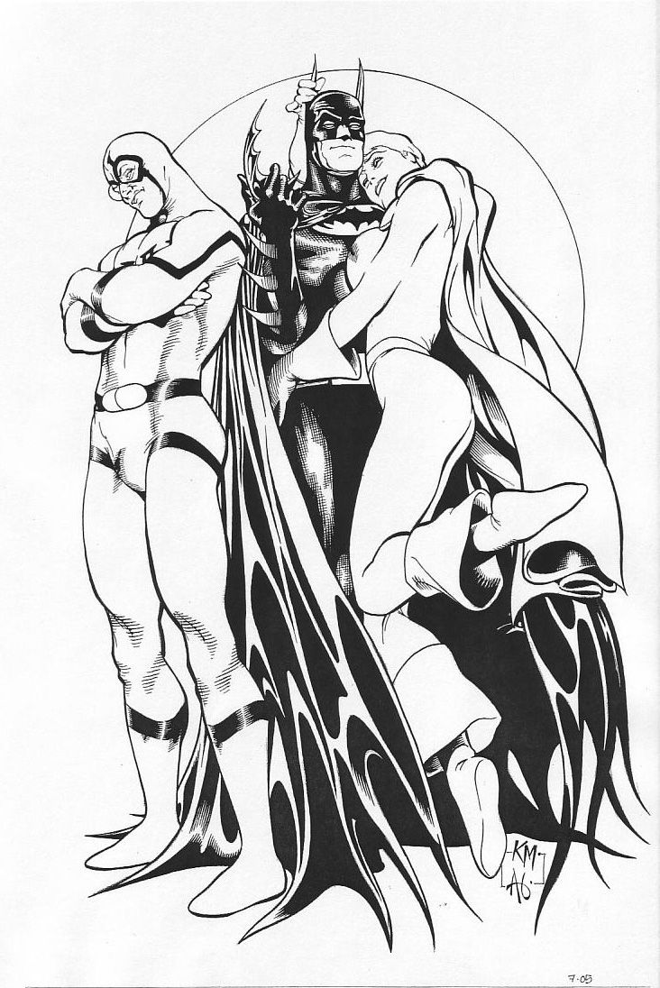 Image detail for -maguire power girl blue beetle ted kord batman art comics illustration ...