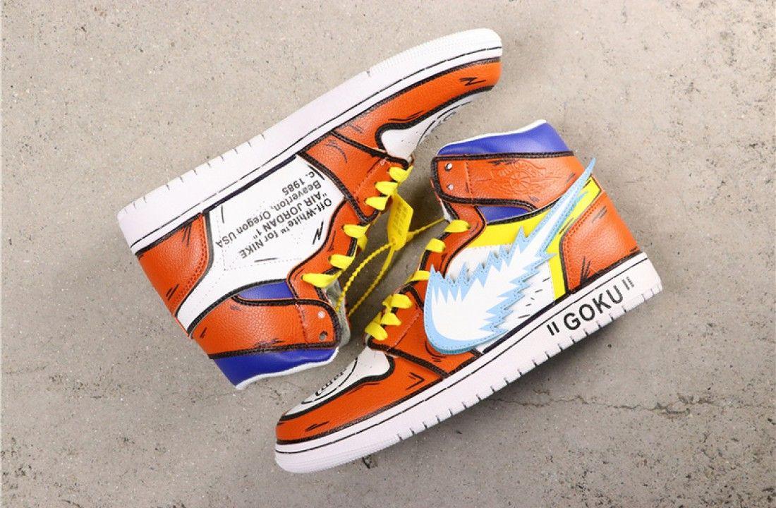 Custom Air Jordan 1 Son Goku Dragon Ball Z Air Jordans Nike Air Jordan Shoes Jordans
