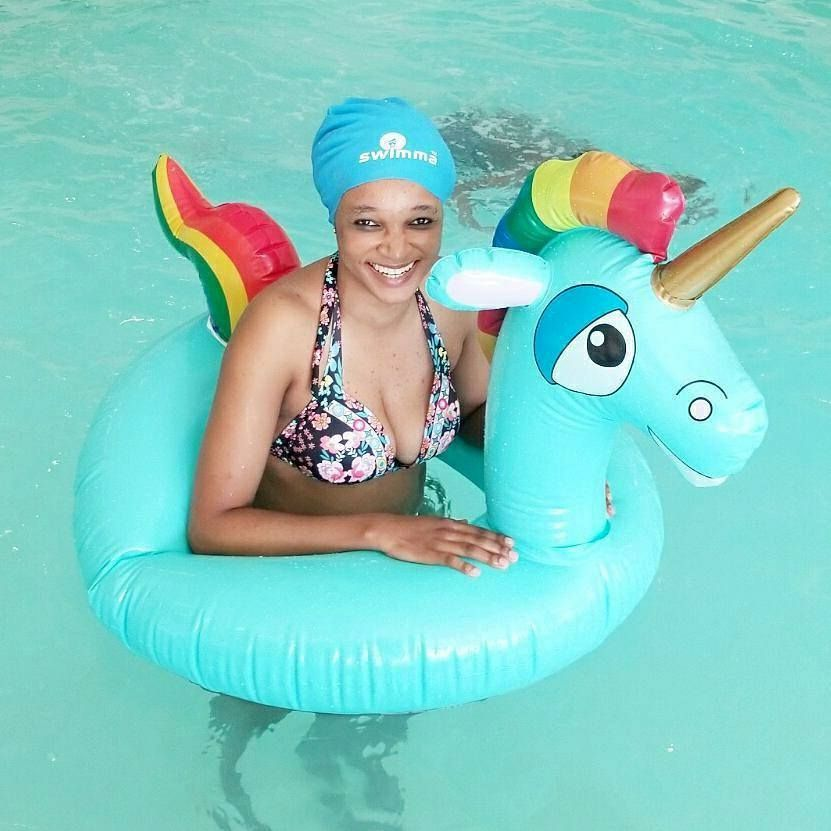 Rainbow Dash Pool Theme Party Big Natural Hair Natural Hair Styles Swim Caps
