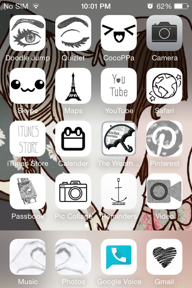 My home screen using CocoPPa (Sparklegirl0519) in 2019