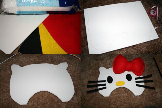Diy hello kitty costume baby and kiddo pinterest hello kitty diy hello kitty costume solutioingenieria Gallery