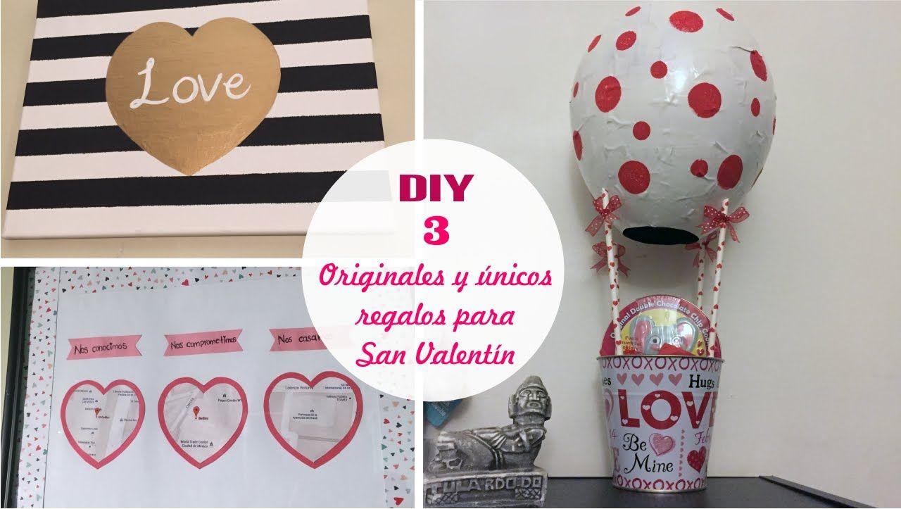 Diy 3 Regalos F Ciles Y Originales Para San Valent N Te Tengo  ~ Regalos Originales San Valentin