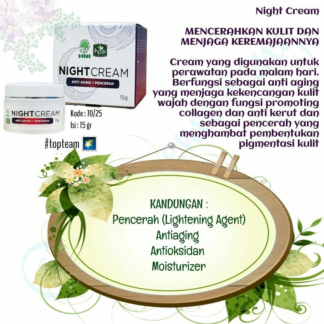 Manfaat Night Cream Hpai Untuk Jerawat