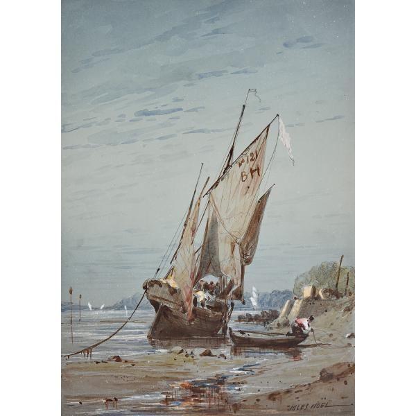 Jules Achille Noel Quimper 1815 Alger 1881 Bateau Echoue