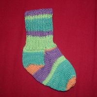 Knitted Toddler Socks--could I add gripper fabric to the ...