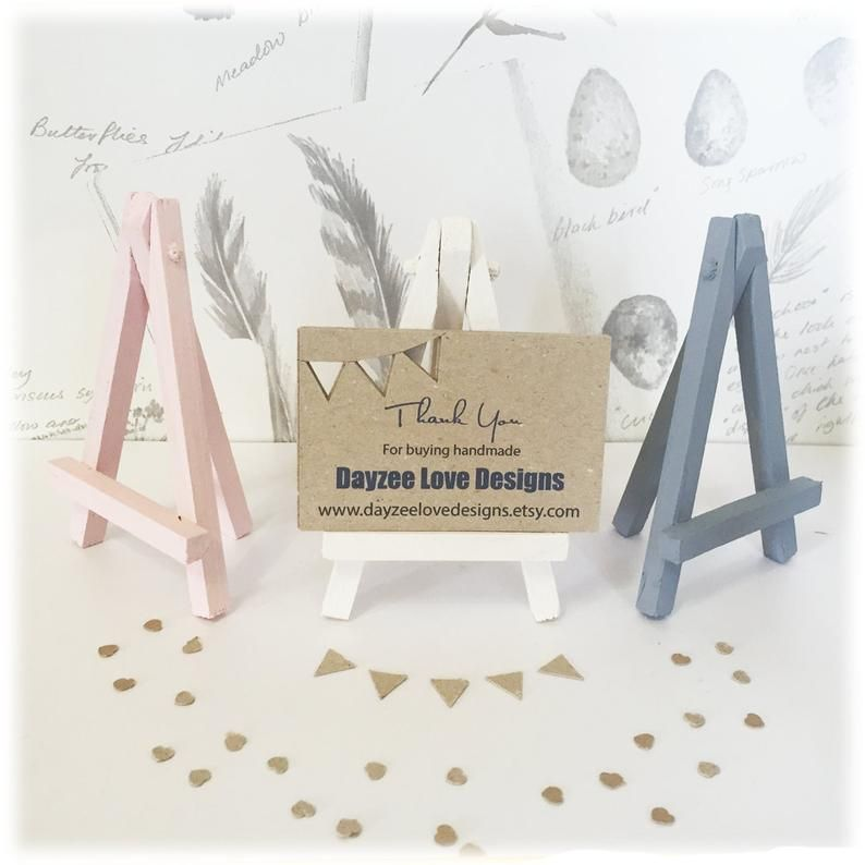 Wooden Mini Easel Place Card Holder Wedding Table