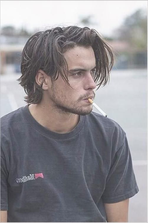Long Hairstyles For Men With Straight Hair The Men S Half Bun
