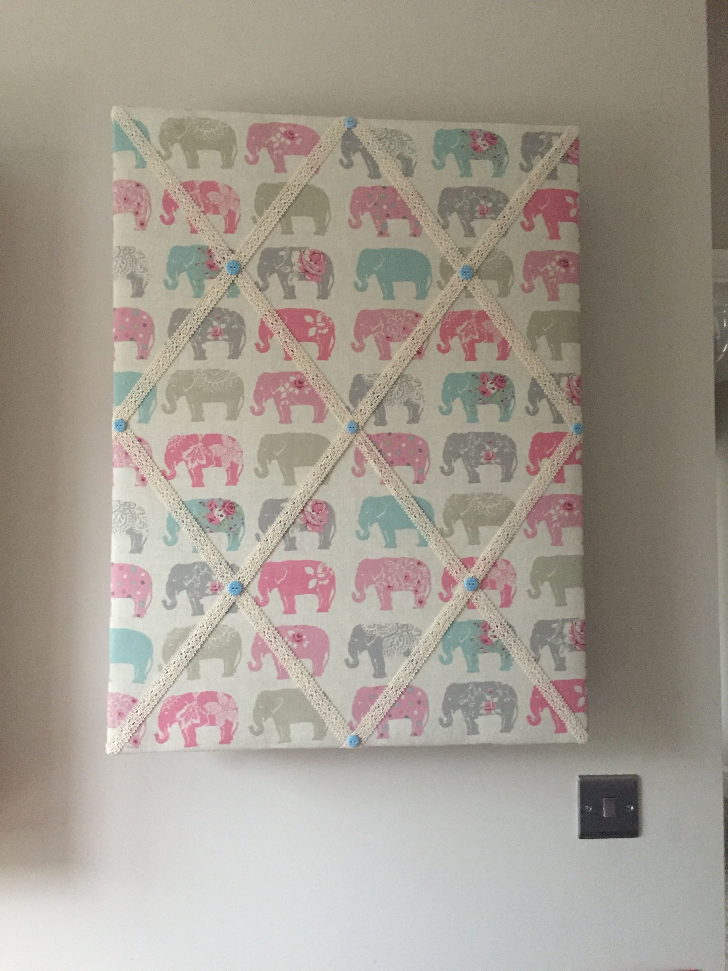Fabric Notice Board Handmade