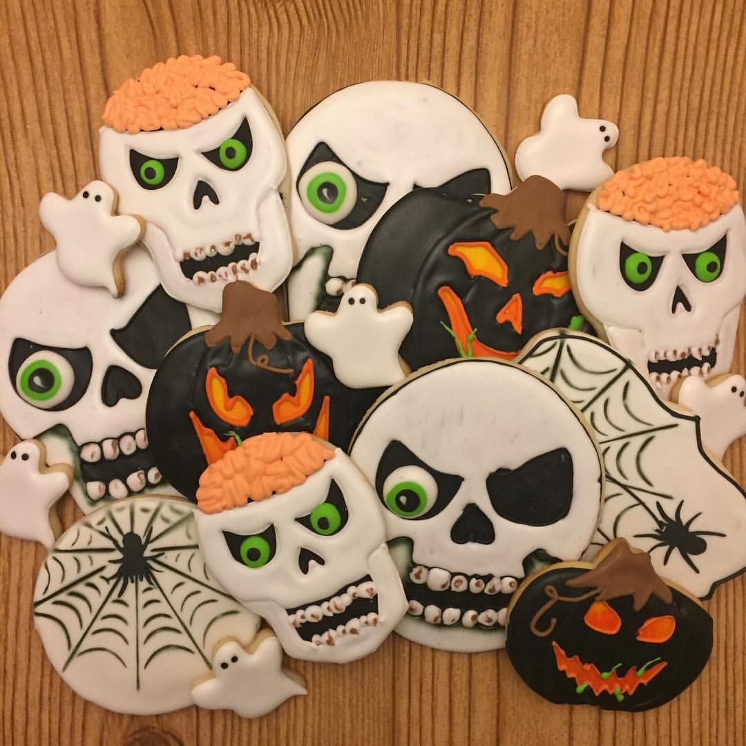 Scary Halloween Sugar Cookies New Found Love Cookies Pinterest - Halloween Decorated Cookies