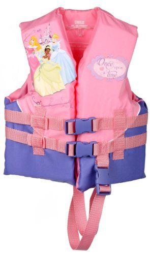 Amazon Com Disney Princess Child Life Jacket Pink 30 50 Pound