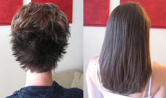 Hair Extensions Short Hair Before And After Hair Extensions For