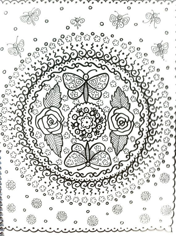 MANDALAS Henna Style Coloring Book To Color Let by ChubbyMermaid ...
