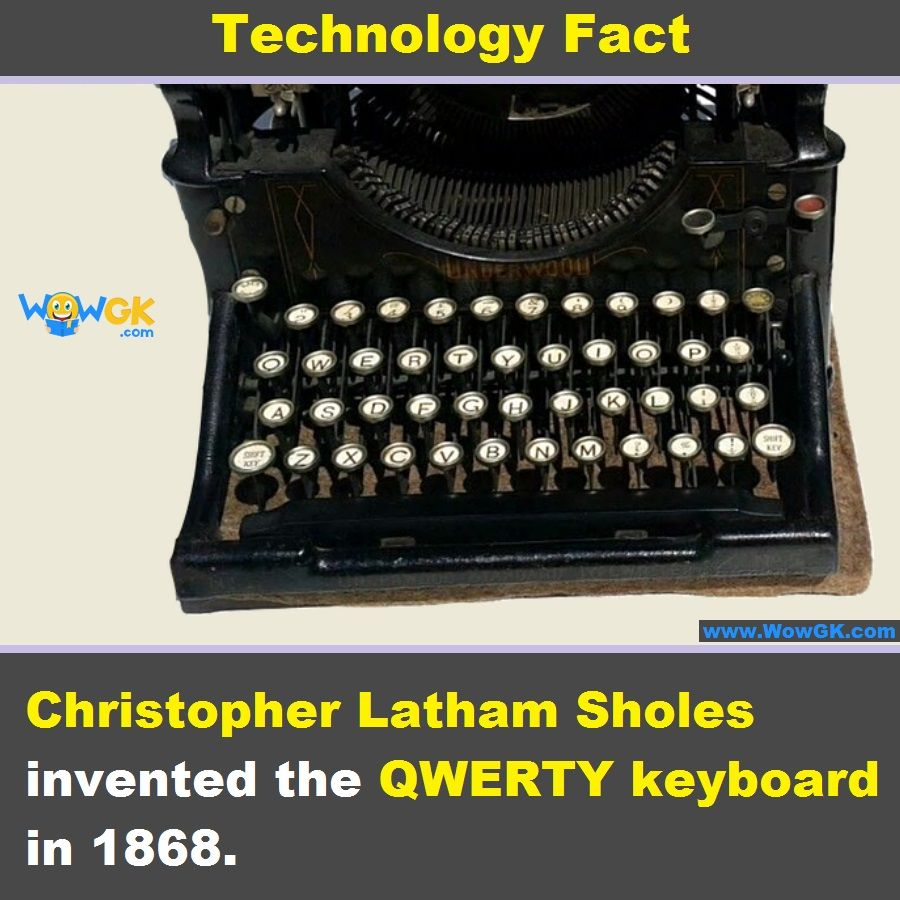 The first keyboard Keyboard, Inventions, First typewriter
