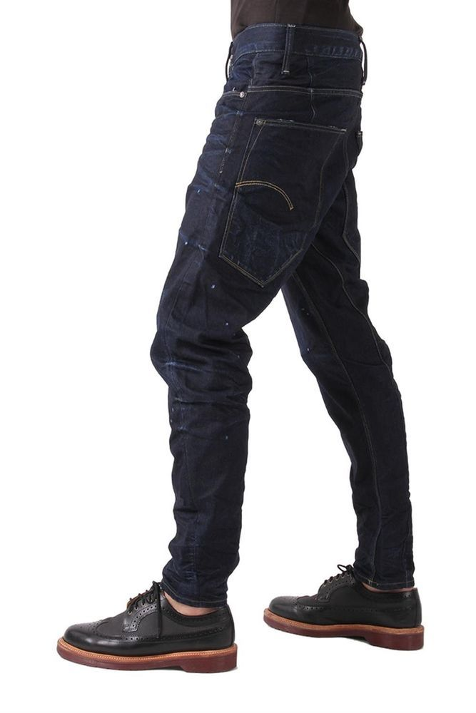 NWT $210 G Star Raw Type C 3D Loose Tapered Geo Denim Dark