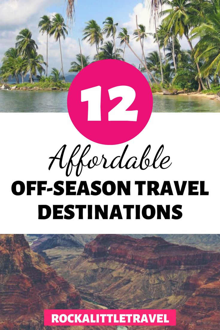 12 affordable off season travel destinations you need to check out! How to travel cheap and on a budget! #traveldestinations #traveltips #budgettravel #cheaptraveldestinations #offseason #offseasontravel #travelhacks #affordabletravel