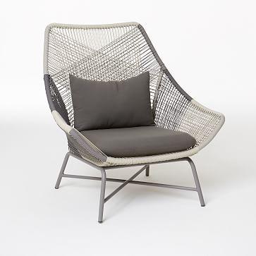 Beau Huron Small Lounge Chair + Cushion U2013 Gray   West Elm