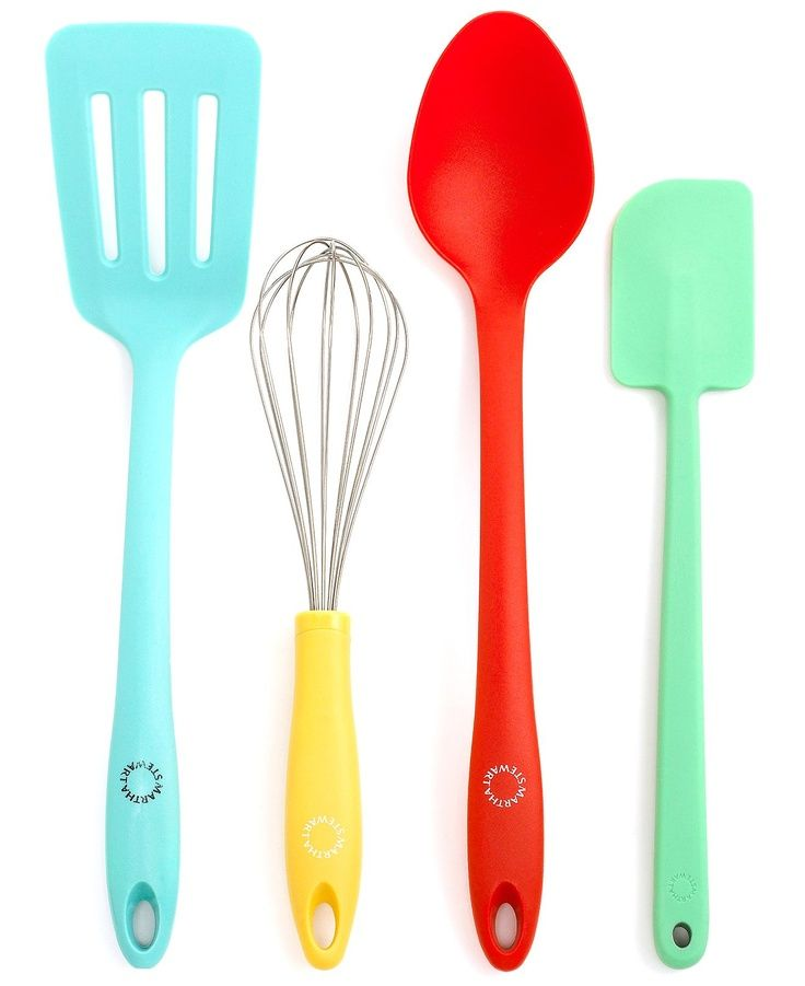 Martha Stewart Collection Utensil Set, 4 Piece Color (Whisk, Turner, Spoon  And Spatula)   Kitchen Gadgets   Kitchen   Macyu0027s Bridal And Wedding  Registry