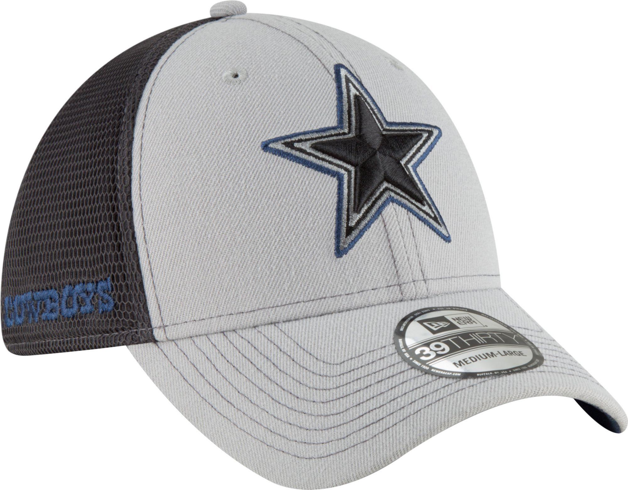 New Era Men s Dallas 2Tone-Sided Graphite Stretch-Fit Hat  ac6fb1b1783f