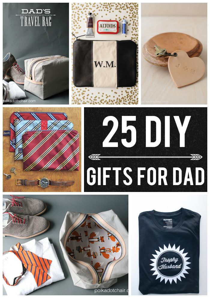 25 DIY Gifts for Dad - DIY gifts for Father's Day. Including a few last  minute Father's Day gift ideas! - 25 DIY Gifts For Dad On Polka Dot Chair Blog Best Of Pinterest