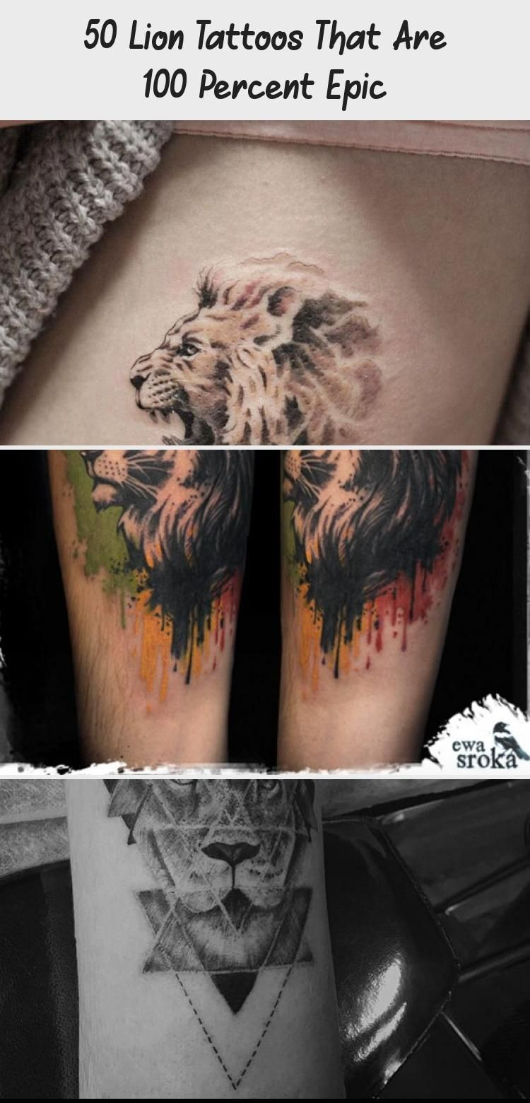 50 Lowentattoos Die Zu 100 Prozent Episch Sind Tattoo Ideas Geometrisches Lowentattoo Von Sara Reichardt G Lion Tattoo Geometric Lion Tattoo Epic Tattoo