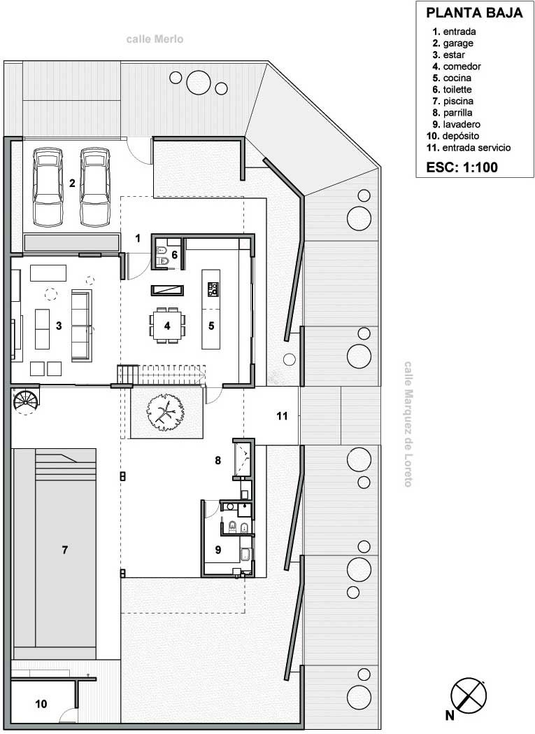 Plano casa de lujo en esquina arte pinterest arch for Planos de casas 6x20