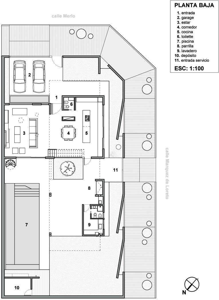 Plano casa de lujo en esquina arte pinterest planos for Arquitectura de casas modernas de una planta
