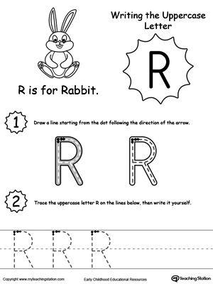 writing uppercase letter r writing letters words tracing letter worksheets for preschool. Black Bedroom Furniture Sets. Home Design Ideas