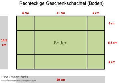 Rechteckige Box Boden W Schachtel Basteln Box Basteln Und