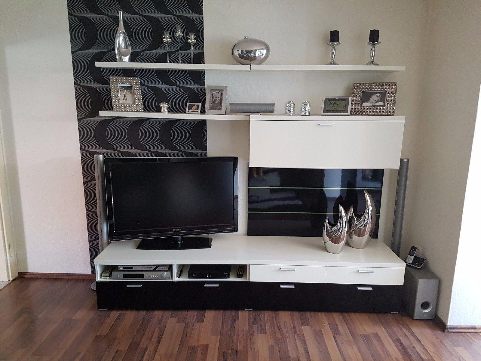 Wohnzimmerschrank Schwarz ~ Wohnwand hochglanz schwarz affordable moderne wohnwand crosby