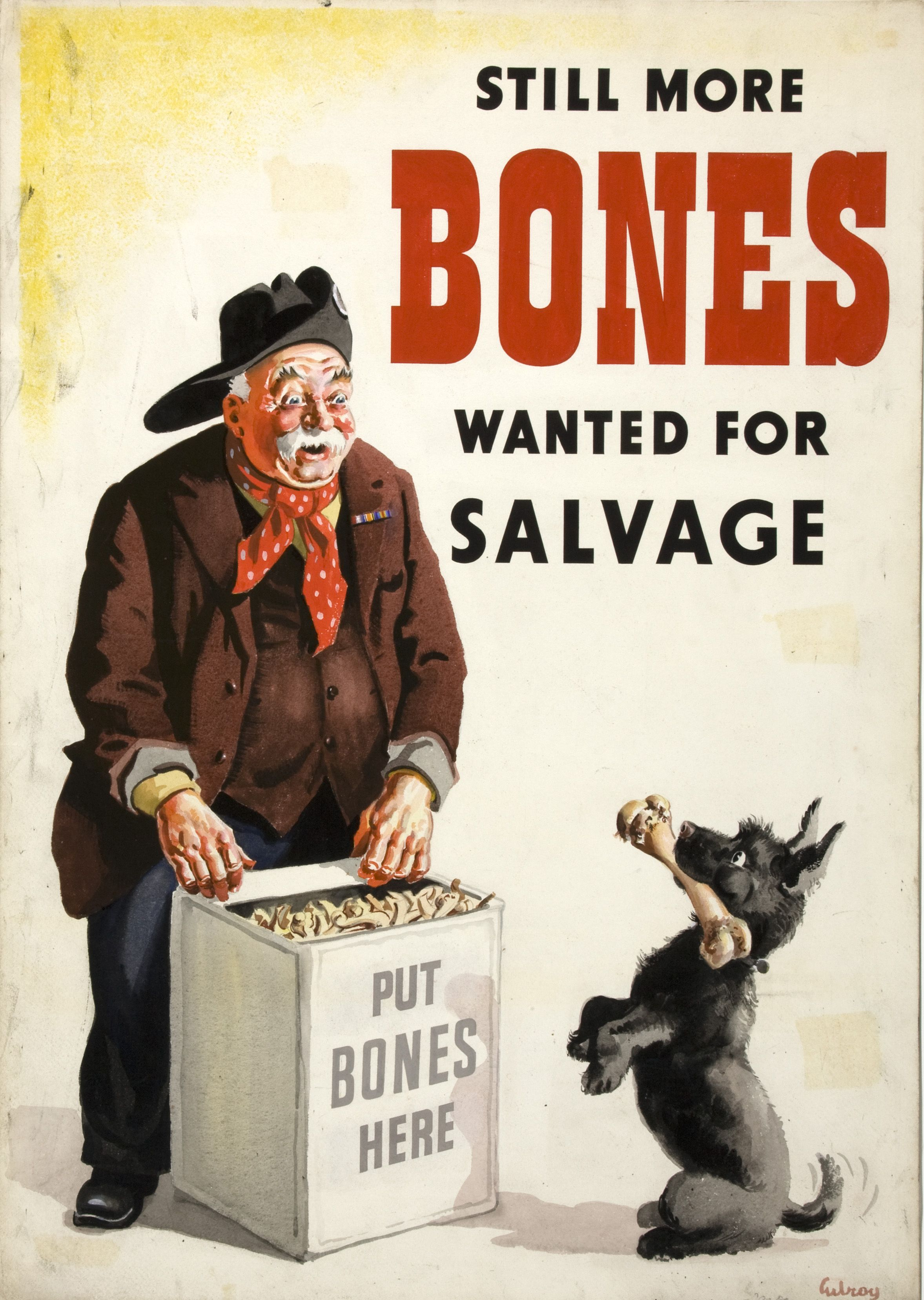 Still More Bones Wanted For Salvage (artist John Gilroy  19391946)
