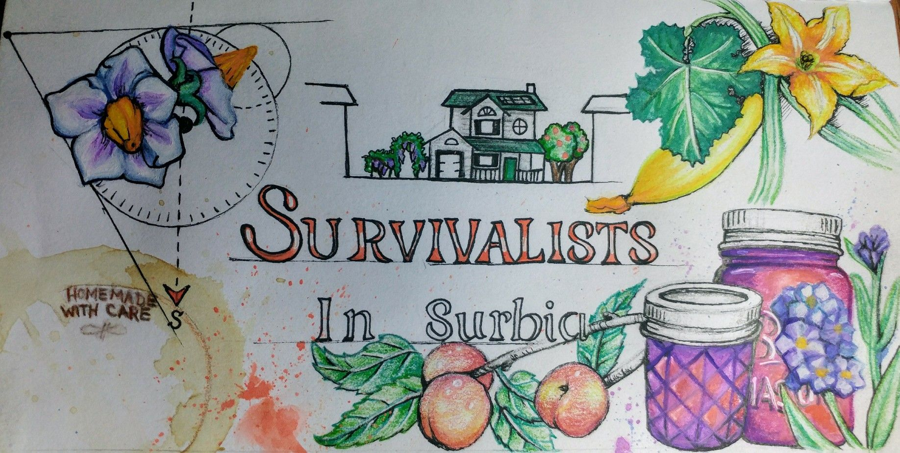 the blog banner i created for my husband s small homesteading site rh pinterest com
