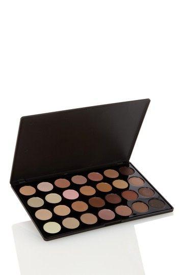 28-Color Neutral Eyeshadow Palette by Crown Brush on @HauteLook