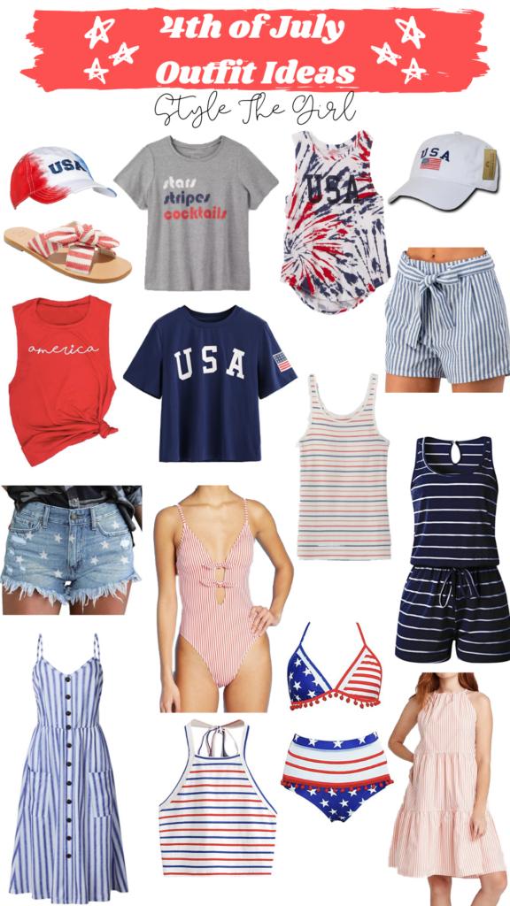 #affordablefashion #july4th #fourthofjuly #4thofjuly #americanoutfit #festiveoutfit #outfitidea #redwhiteandblue #usaoutfit #starsandstripes #patrioticoutfit