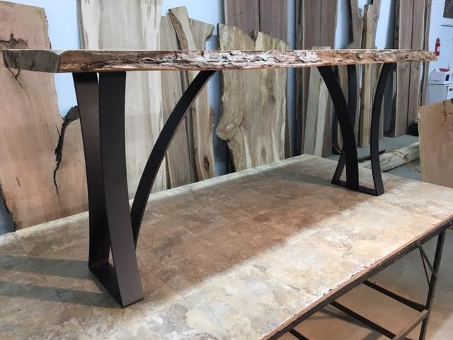 Wooden Sofa Table Legs Cloud Luca Nichetto Steel Base Ohiowoodlands Metal Console Accent Jared Coldwell For Sale At Oh