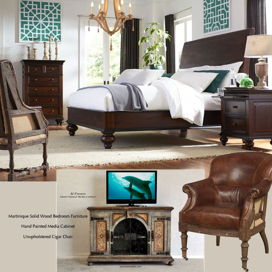 Tuscan Bedroom Furniture: Create An Eclectic Tuscan Style Bedroom With Dark Solid