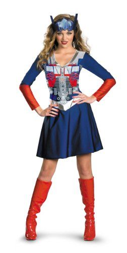 Transformers Movie - Optimus Female Classic Adult Costume Size 4-6 Small Disguise Costumes http://www.amazon.com/dp/B004QMO6C6/ref=cm_sw_r_pi_dp_jEhiub1C9R102 OMG! Too funny, If my son goes for Transformers....Maybe I'll join!