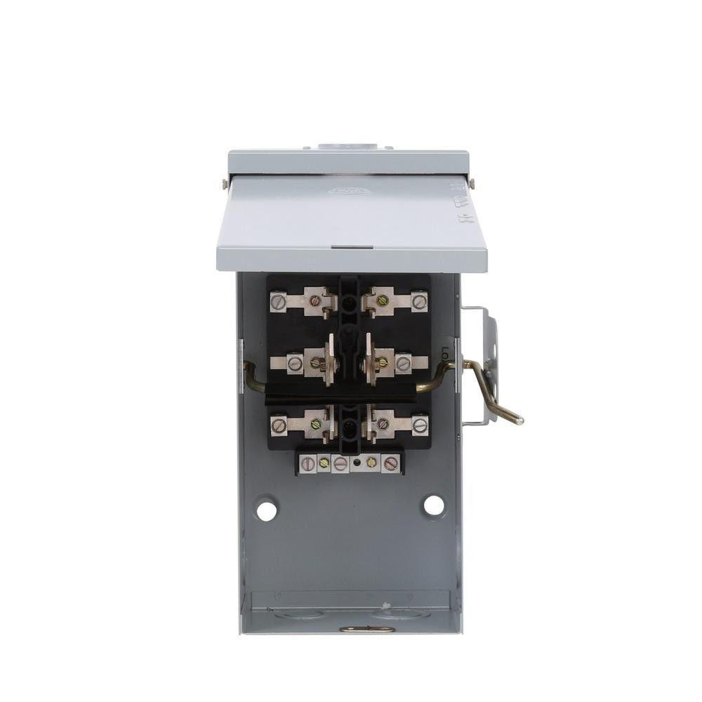 100 Amp 240 Volt Non Fused Emergency Power Transfer Switch Ge Transfer Switch Backup Generator Emergency Power