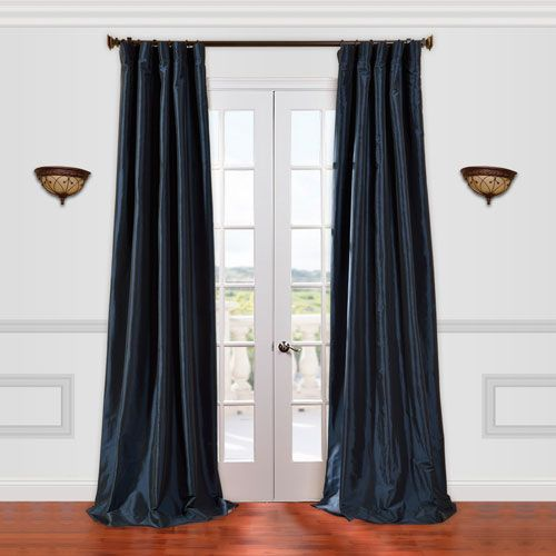 Half Price Drapes Blue 50 X 96 Inch Curtain Ptch