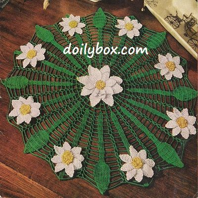 Free crocheting pattern Daisyweb Doily | Free Crochet Floral Flower ...
