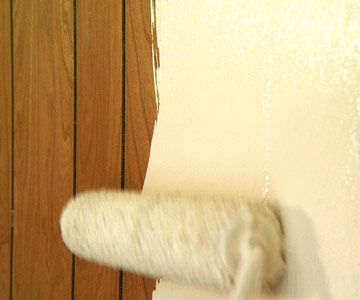 DIY Home Repair Hack: Easily Paint Over Wood Paneling | Woods, House And  Basements