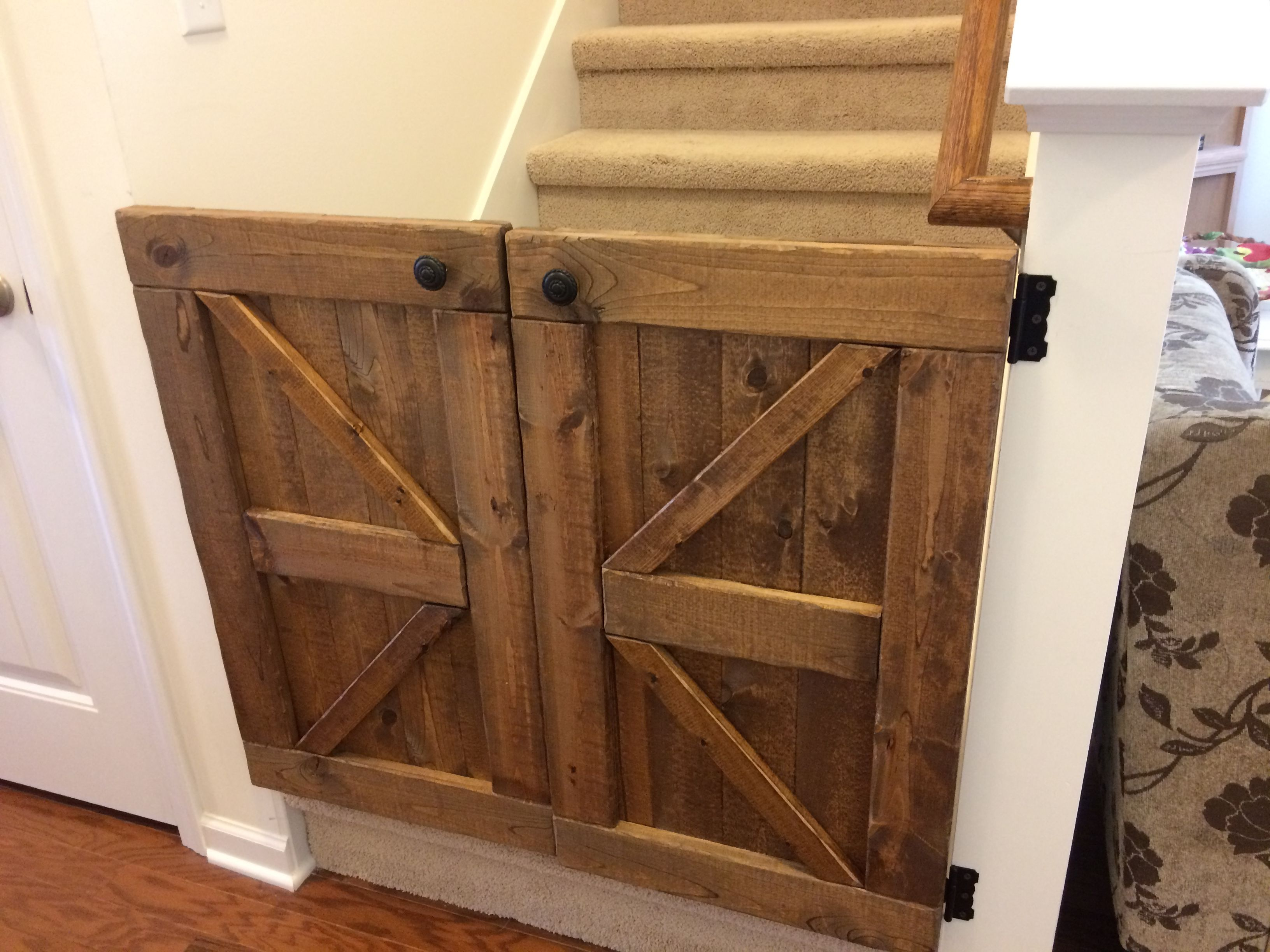 Barn Door Baby Gate Made My Own After Seeing It Here Diy