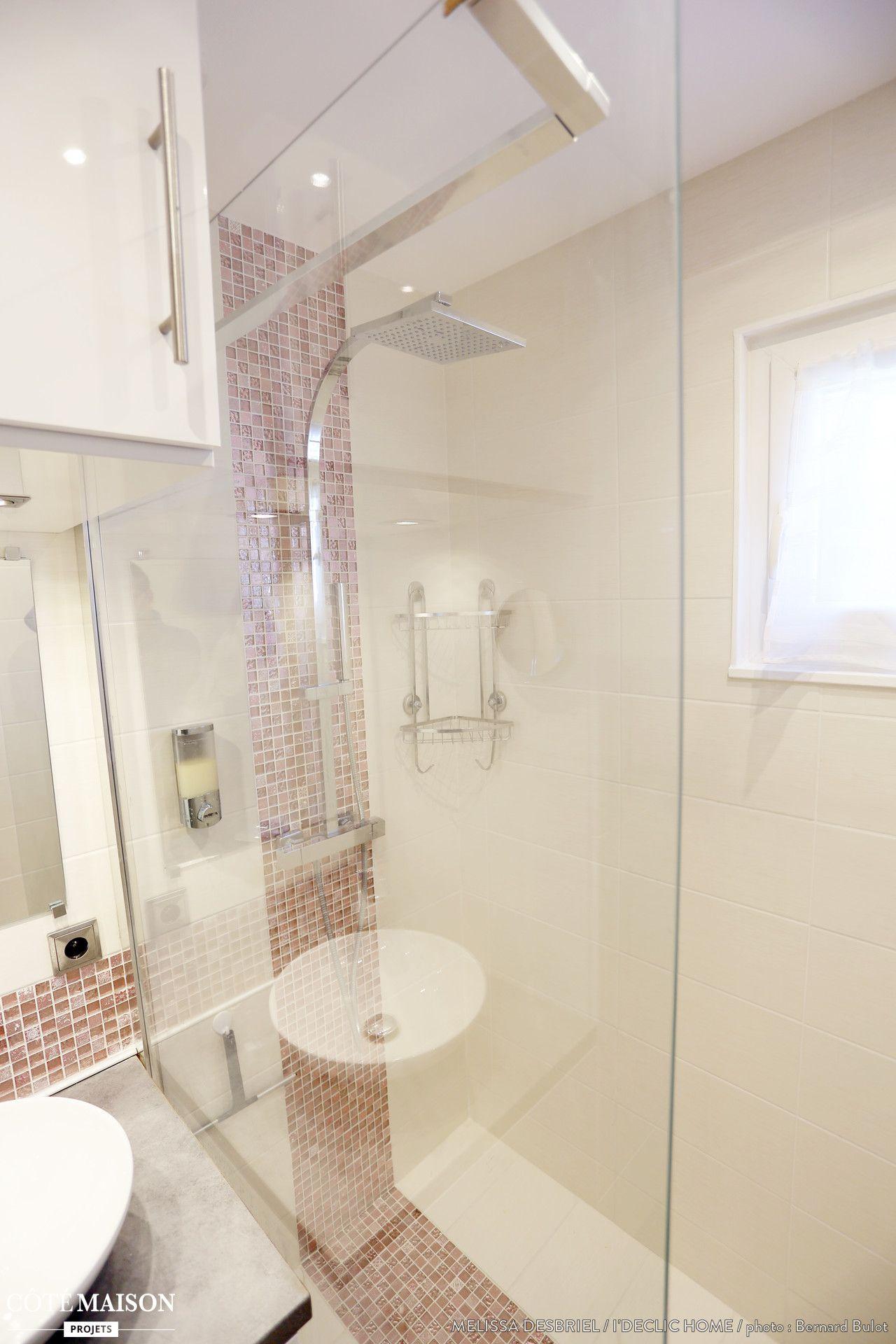 R novation d 39 une salle de bains de 3m2 m lissa desbriel c t maison deco bathroom - Salle de bain 3m2 ...