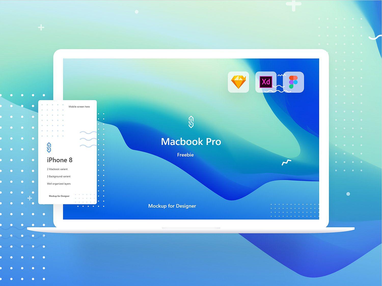 Macbook Pro Mockup Freebie Xd Sketch And Figma Free Mockup Macbook Pro Macbook Macbook Pro Accessories